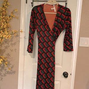 DVF Vintage Julian Classic wrap dress in EUC 10